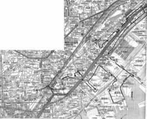 神奈川宿近辺地図
